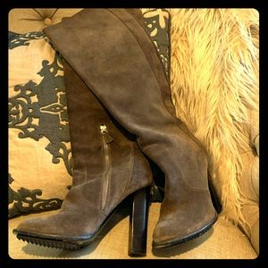 Lanvin suede knee boot - wardrobe workhorse.